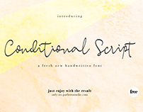 Free Conditional Script Font