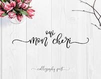 Oui, Mon Cheri - Calligraphic font