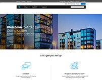 AT&T Connect Me page design