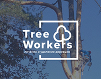 Website «TreeWorkers». Treatment and removal of trees