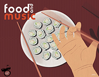 Food and Music Illustrations