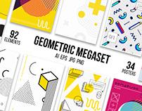 126 posters, elements geometric set