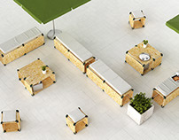 PlayWood OSB Collection | The Modular Lounge Seating