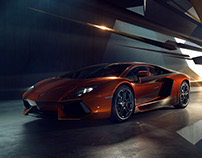 Lamborghini Aventador with Marc Trautmann