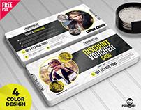 Gift Voucher Template Free PSD