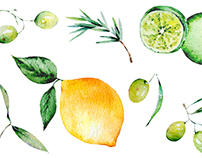 Agrumes et verts