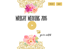 Animated Invite - Wright Wedding 2016