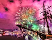 Docklands Nightly Fireworks