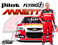 Michael Annett Pilot Flying J Hero Card Design