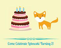 Lebowski's Birthday Invitation
