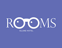 Rooms Island Hotel Logo Design