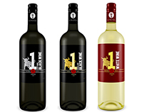 VINODA Wines - Bottle Concept - Black and White wines