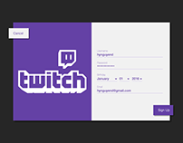 DailyUI 001: Signup - Twitch Signup Redesign