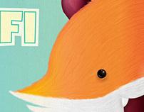 Rafi the fox - Illustration for a newborn baby