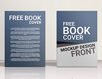 Free Book Cover Mockup Design