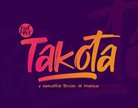 Free Takota Handwritten Brush Font