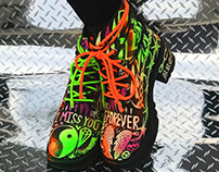 NEON CYBER GOTH THRAXX BOOTS