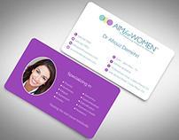 Aim for Women = Business Card