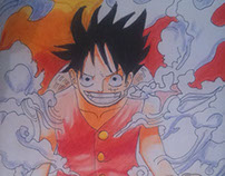 Speed Drawing Luffy Gear Second - ONE PIECE