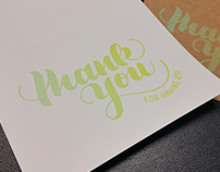 Letterpressed Thank You Card