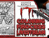 IT Nightmare Tribute WIP Coloring Fun!
