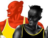 MMA female fighters (editorial on batenka.ru)