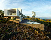 house on a mountain plateau