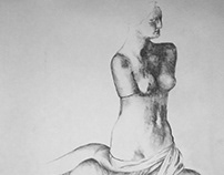 Graphite, Pen, and Charcoal Drawings