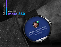 moto 360 Android Wear, Quick Access message UX design.