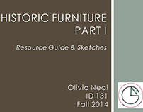 Historic Furniture Guide & Sketches Pt 1