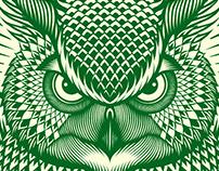Lions, Owls & Elephants Podcast illustration