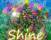 Shine - Christmas Album Cover Design