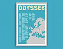 Odysseus Adventures - A typografical poster.