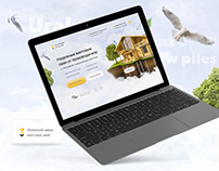 Landing page design for Ural plant of screw piles