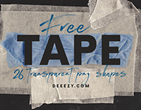 26 FREE Tape PNG Shapes