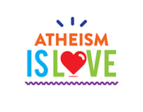 ATHEISM IS LOVE // typography