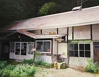"""""""my parent's parent's house"""" oil on canvas 36.4×51.5cm"""