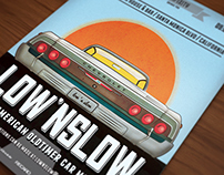 Low and slow - oldtimer car poster / flyer