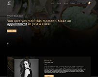 Dark Salon Landing Page