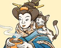 Winter Geisha Animated Gif