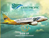 Cebu Pacific Airlines App Concept