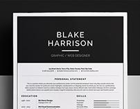 Resume/CV - 'Blake'
