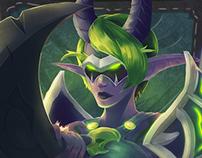 Warcraft Legion : Cyana Nightglaive