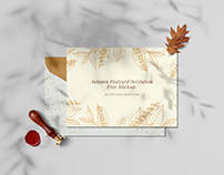 Free Autumn Postcard Invitation Mockup