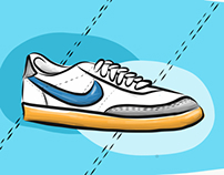 Nike sneaker illustration