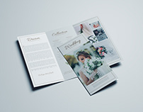 Trifold brochure template for Wedding Photography,