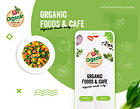 Organic Foods & Cafe App Design