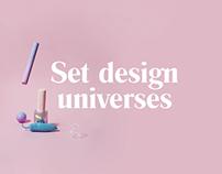Set design universes I