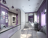 Beauty salon with classic elements after adjustments.