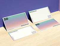 Free Business Card on Wooden Floor Mockup For Branding